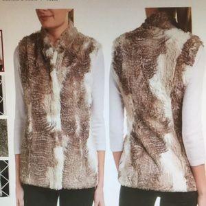 cAbi Aspen Faux Fur Vest (Style 3179) Sz S